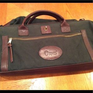 Orvis Bags - ORVIS BOOTLEGGER LEATHER AND CANVAS WEEKEND BAG